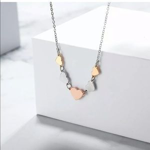 Jewelry - TRICOLOR HEARTS NECKLACE